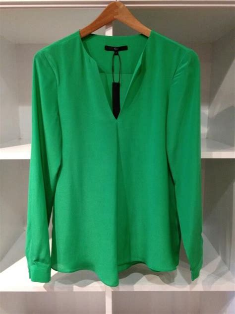 emerald green blouse emerald longsleeve blouse from tibi quot green quot eyed