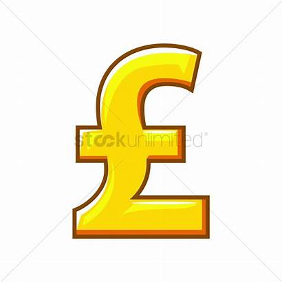 Pound Symbol Sterling Currency Vector Sign Money