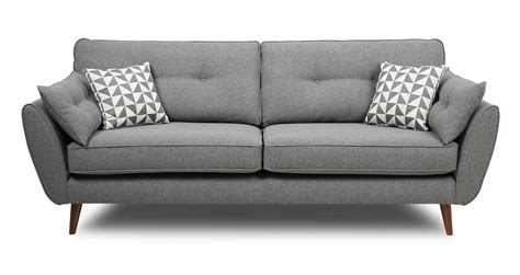 Grey Sofa Bed Uk by Zinc 4 Seater Sofa Dfs