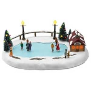 36726 mr christmas winter wonderland skating pond animated musical ice skating
