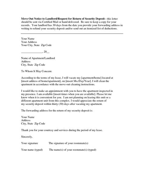 write   day notice   tenant  move