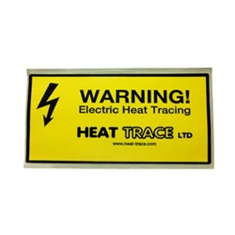 caution label  insulated heat trace cable