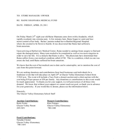 sample donation request letter  documents   word