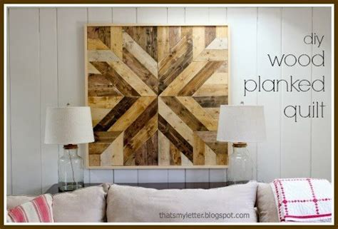 Home inspiration decoration & design ideas the art of wall art: DIY Wood Planked Quilt - Sawdust Girl®