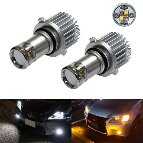 color switchable white 20w cree 9005 led fog light