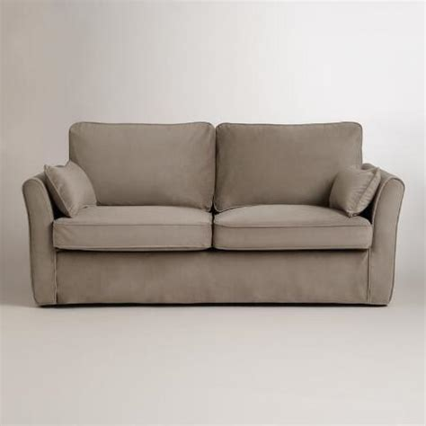 World Market Luxe Sofa Slipcover by Mink Brown Velvet Fit Luxe Sofa Slipcover World Market
