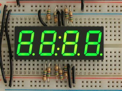 green  segment clock display