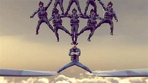norris spoofs van damme  epic airplane split