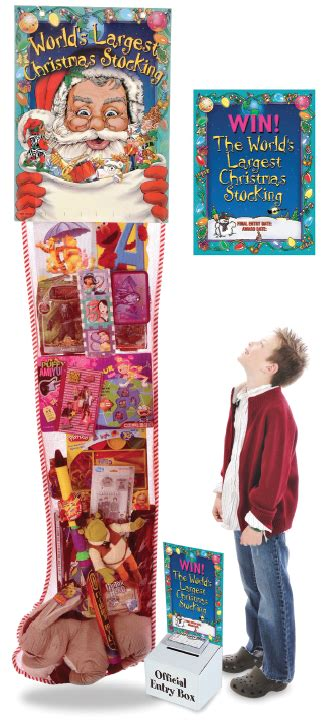 giant ft toy filled christmas stocking promotion