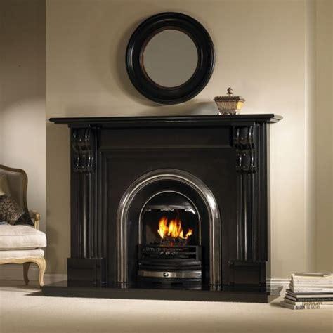bracken black granite fireplace