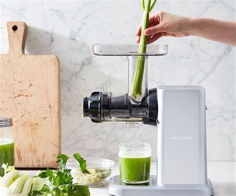 hurom juicer celery greens horizontal slow juice most courtesy