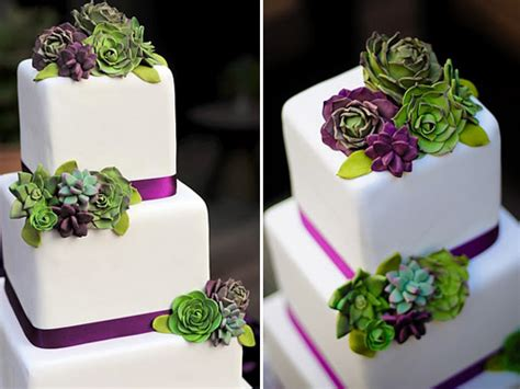 Greer Loves Succulent Inspired Wedding Cakes
