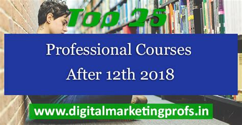 Best Courses For Marketing Professionals by Top 25 Professional Courses After 12th 2018 Digital