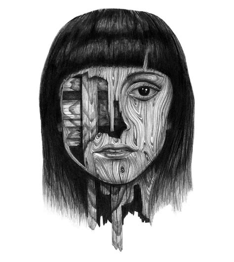 wooden faces awesome drawing xcitefunnet
