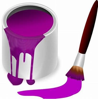 Paint Purple Brush Clip Clipart Clker