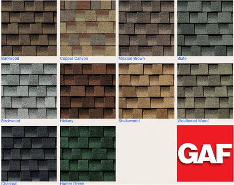 shingle colors roof shingle types iko gaf certainteed