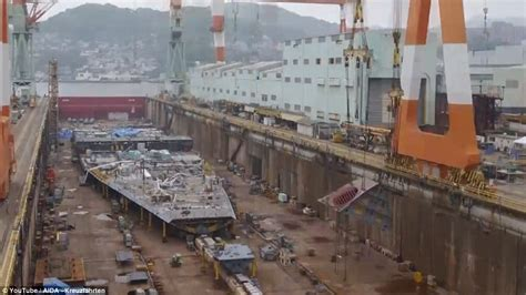 Stunning Timelapse Shows U00a3450m Cruise Ship Being Built Like LEGO Over 5 Years In Japan | Daily ...