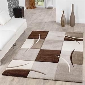 Teppich Wohnzimmer Modern : teppich wohnzimmer modern palermo mit konturenschnitt in beige creme braun moderne teppiche ~ Sanjose-hotels-ca.com Haus und Dekorationen
