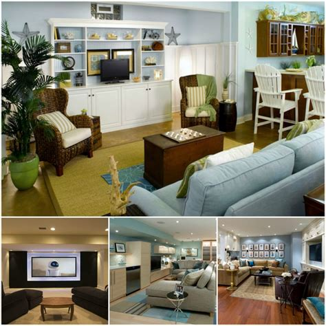 diy small finished basement ideas     living