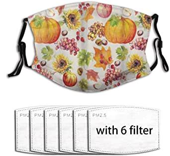 CONICIXI Face Cover Thanksgiving Fruits and Vegetables