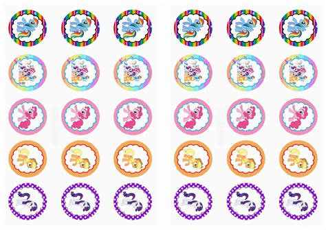 My Little Pony Stickers Birthday Printable