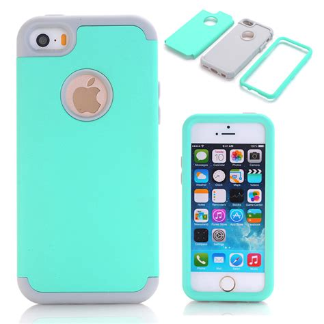 phone cases for iphone 5s 3 in 1 impact soft silicone hybrid for apple