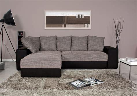 canapé noir et gris canapé d 39 angle réversible valentina noir et gris