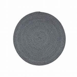 Tapis Blanc Rond : tapis rond tendance noir et blanc allen par nattiot ~ Dallasstarsshop.com Idées de Décoration