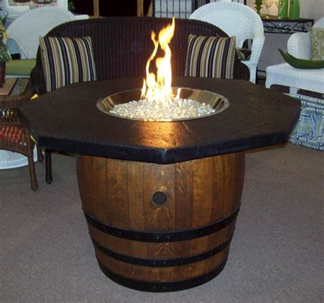 wine barrel firepit table want to make one patio and