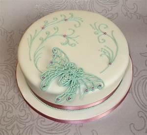 Art Nouveau Butterfly Cake - CakeCentral com