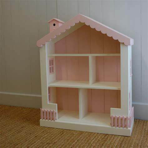 wooden dollhouse bookshelf cottage dollhouse bookcase 15 colors solid pine wood 41