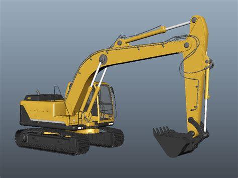 hydraulic excavator  model maya files
