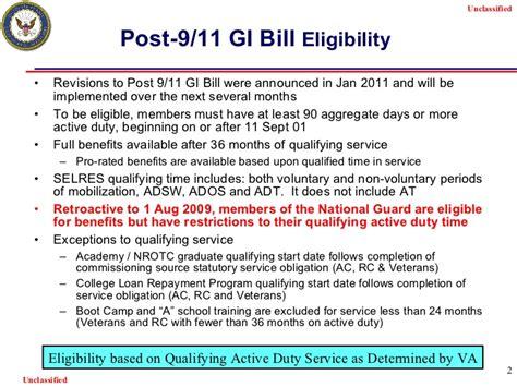 gi bill eligibility letter post 9 11 gi bill 1045 7498