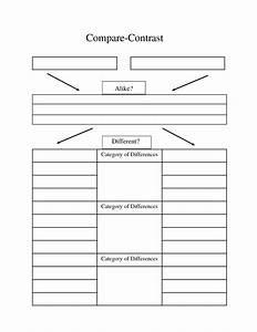 compare contrast essay graphic organizer compare With compare and contrast graphic organizer template