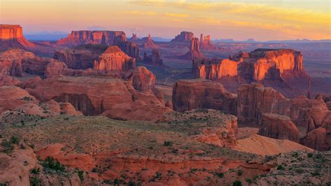 sunrise  hunts mesa viewpoint monument valley navajo