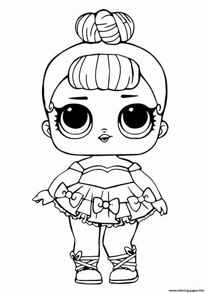 Coloring Doll Miss Glitter Lol Pages Printable