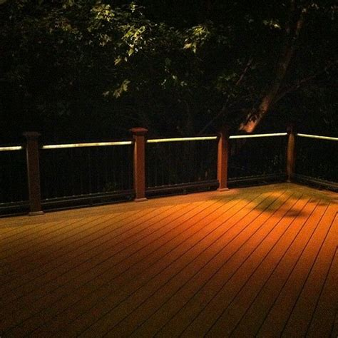 deck railing lights ideas odyssey led strip light by aurora deck lighting ledlighting leddecklights deck lighting
