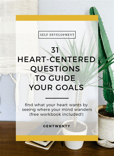 heart centered questions  guide  goals