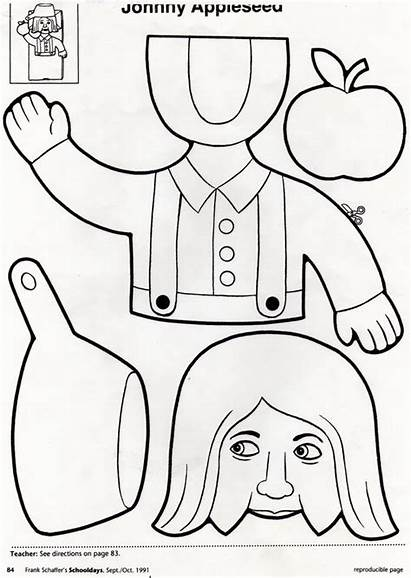 Johnny Appleseed Puppet Activities Preschool Apple George