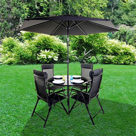 billyoh comfort 4 seater black metal garden