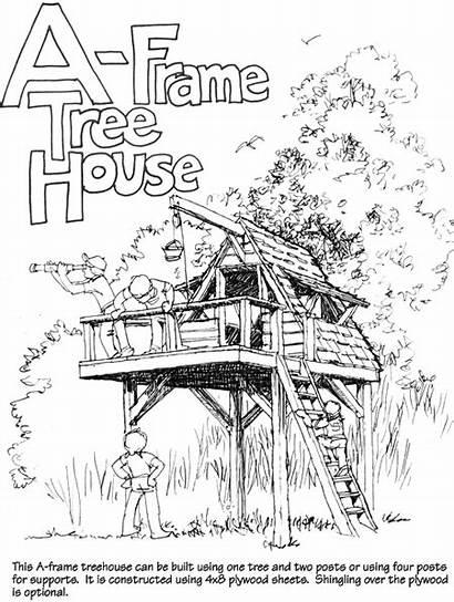Frame Treehouse Dream Diy Tarp Roof