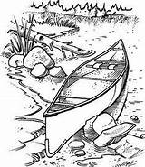 Drawing Burning Wood Patterns Canoe Coloring Stamps Stampin Rubber Scene Pyrography Drawings Pencil Crafts Woodburning Projects Pages Adult Lake Canoeing sketch template