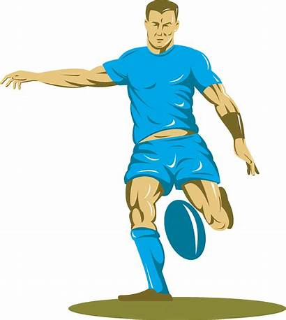 Rugby Clipart Player Cartoon Clip Playing Fisherman