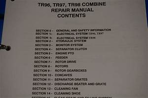 New Holland Tr96 Tr97 Tr98 Combine Workshop Service Repair Manual 40009630