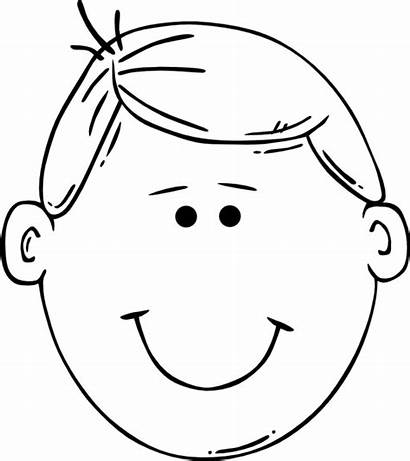 Coloring Pages Boy Boys Face Colouring Blank