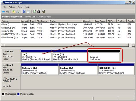Add Unallocated Space To An Existing System Partition