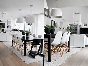 design scandinave salle a manger en 58 idees inspirantes With salle À manger contemporaine avec salon scandinave blanc