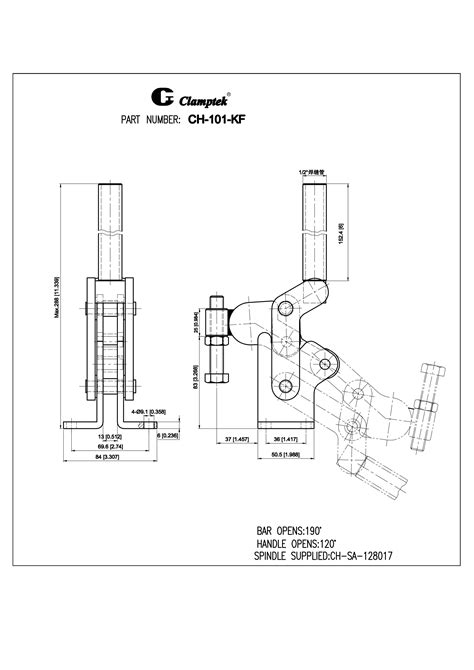 CH-101-K | Vertical Toggle Clamps | Clamptek