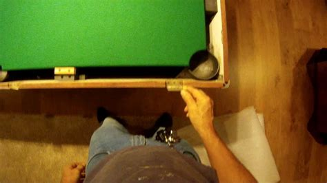 how to refelt a pool table how to refelt a pool table bed and rails youtube
