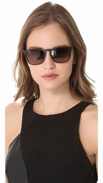 Ray Ban Sunglasses Brown Chris Rb4187 Square